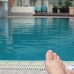 La piscina es lo suficientemente larga para nadar a gusto
