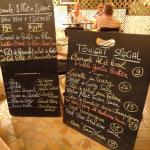 The Prix Fixe and Special menus. Prices on the Special menu are in US Dollars.