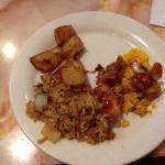 An Example Plate of Fried rice & Chicken