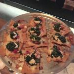 ITALCHOS (italian nacho) this has chicken, spinach, goat cheese, sun dried tomatos and basil pes