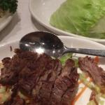 Mongolian lamb with lettuce