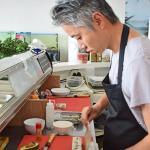 Chef/owner Alex Xu making sushi