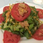 Vegan ham salad, vegan ham sandwich and vegan fish