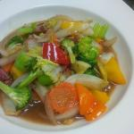 my favourite ginger stir fry with BBQ pork!