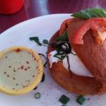 Basil tomato mozzarella Cocotte Brioche with poblano sauce on the side- incredible!