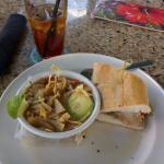 cuban sandwich and chicken tortilla soup