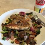 Protein Power Plate with grilled veggies