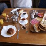 zeer overdadig ontbijt, geweldig!