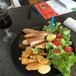 L'assiette du jour au poulet !!! Au top !!