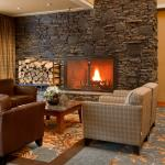 Cozy Lobby Fireplace