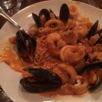 Seafood Pasta with vodka sauce.