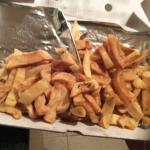 Burnt oily chips