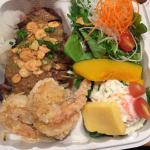 Combination: Wafu steak & Garlic shrimp