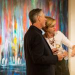 Admiring the contemporary artwork at Mirada Fine Art.