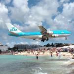 KLM 747 landing Maho Beach