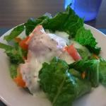 Salad with Ranch Dressing, very good but very small portion