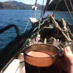 Hot chocolate and sailing :)