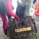 Nearby crab market, buy them from the ladies