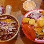 Soup (chili) & Salad Combo