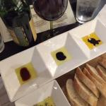 olive oil and balsamic tasting