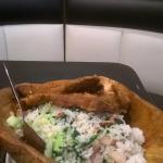 fried rice, fried pork and ham