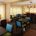 Breakfast dining area at the Hampton Inn Naples-Central
