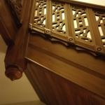 Inedible detailed craftsmanship of staircase!