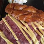 Tried the salt beef with a beer at lunch. Meat was fantastic but bread was poor (I suspect was o