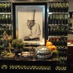 This photo of Paul Bocuse is at the entry to the restaurant in the hotel Le Royal.