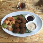 we make the FALAFEL too, it's completely VEGAN!