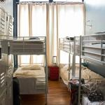 Bunk Beds and Lockers in one room. (Women's Room)