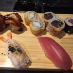 Heerlijk sushi gegeten. (Voor de zoveelste keer) bij ons in het dorp kunnen we ook sushi eten, m