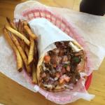 Gyro with fries on the side