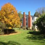 Fall color, Anderson Cottage from southeast