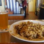 Jambalaya and Abita Pale Ale