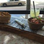 tune tartare with plantains chips