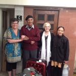 Sayings goodbye to the Colonel and Mrs Singh
