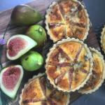 Fresh local figs with blue cheese savoury tart