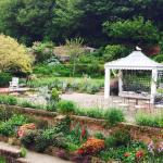 View of the walled garden and terrace