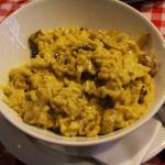 Risotto with mushrooms and saffron
