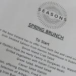 Our beautiful Spring Brunch/Sunday Brunch at Seasons Restaurant, IC Dublin, Feb.2015