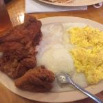 chicken grits n eggs.. $20 w/drink