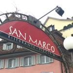 San Marco, Zug - Am Eingang zum Restaurant