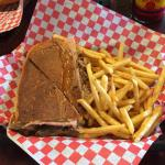 "This is the ""small"" Cuban sandwich.  It was amazing :)"