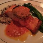 Atlantic Salmon with Rice Pilaf, Green Beans with Roasted Red Pepper Blank
