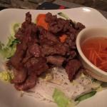 BBQ pork over vermicelli, lacks BBQ taste