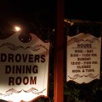 My first dining experience at Drover's.  Salmon salad was very tasty with waffle fries on it.  M