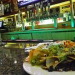 Veggie nachos at the bar