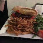 Burger avec pain chiabatta