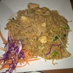 My wife's Pad Thai with noodles